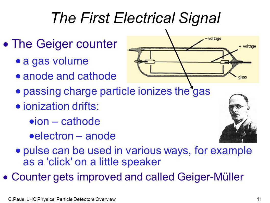 The First Electrical Signal