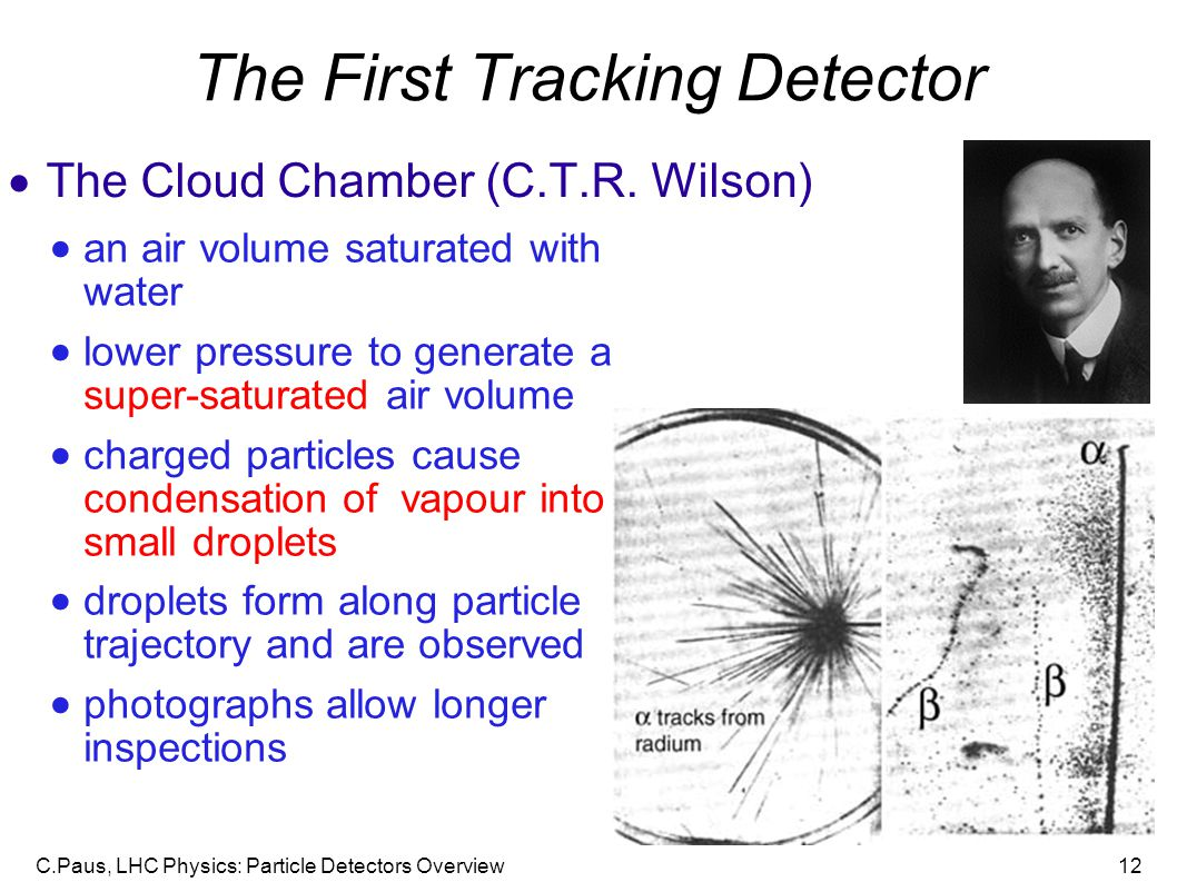 The First Tracking Detector