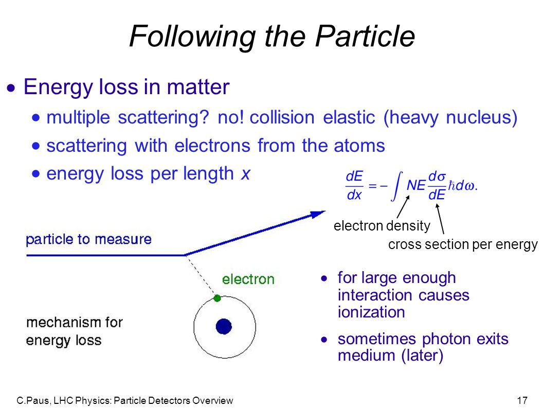 Following the Particle