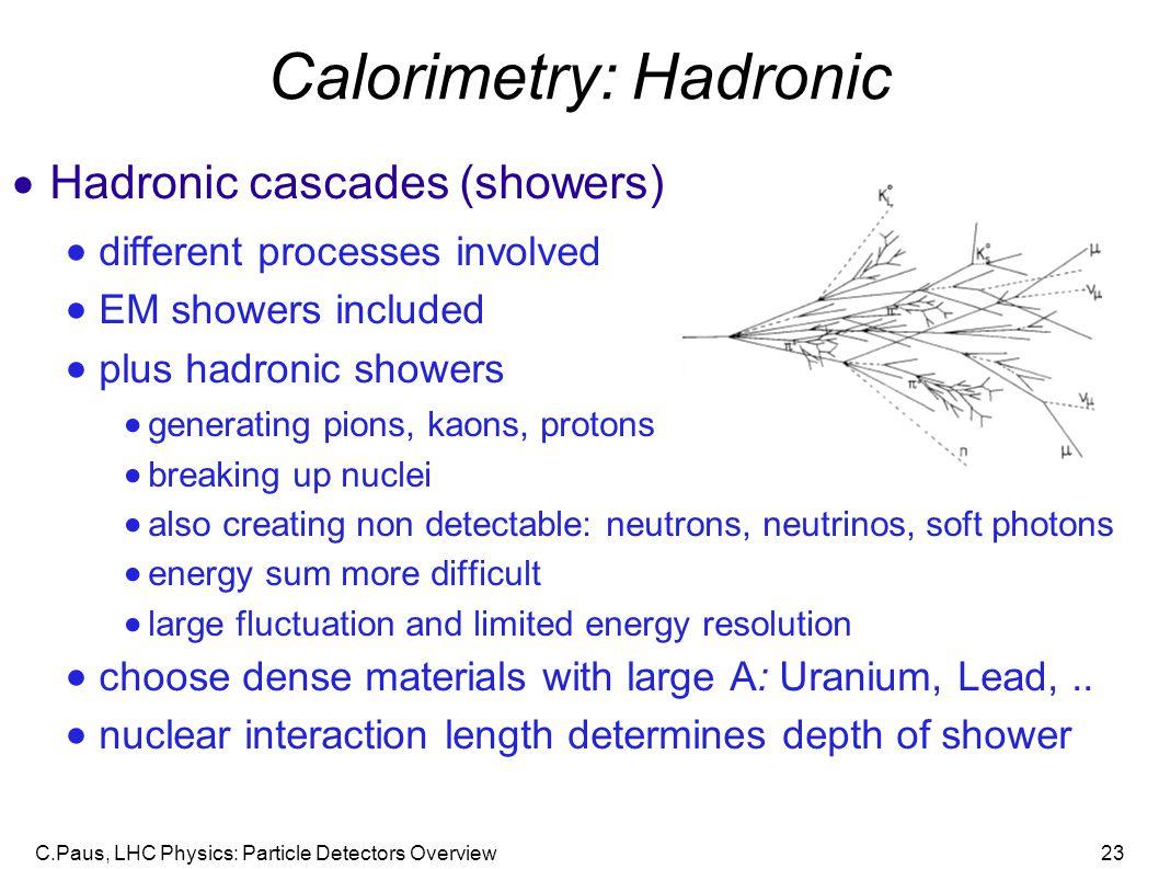 Calorimetry: Hadronic