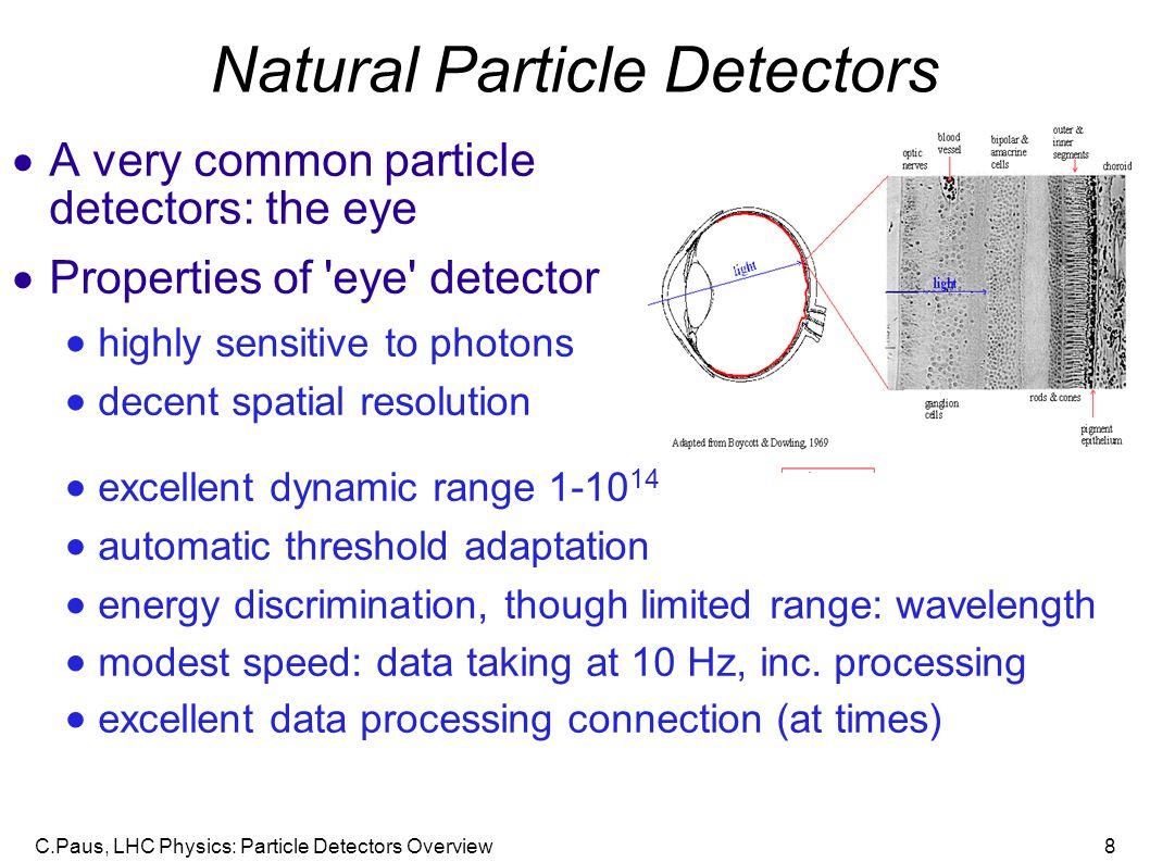 Natural Particle Detectors