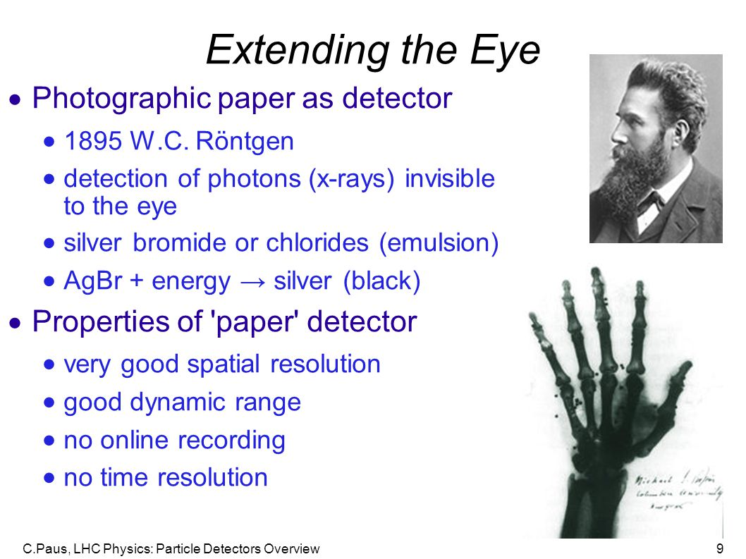 Extending the Eye Photographic paper as detector