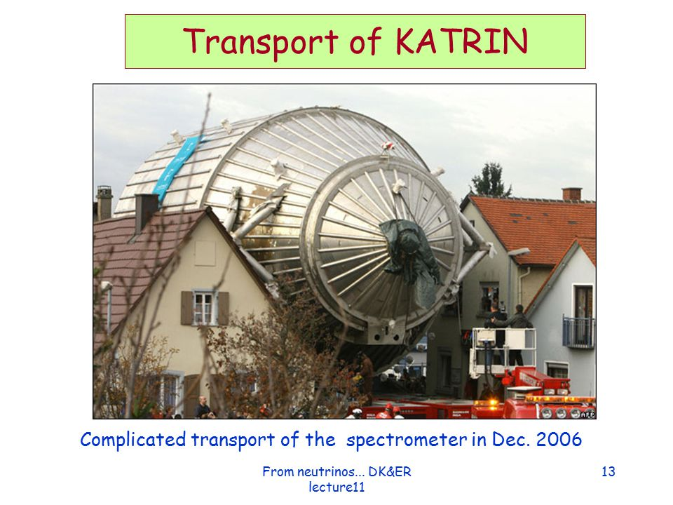 From neutrinos... DK&ER lecture11