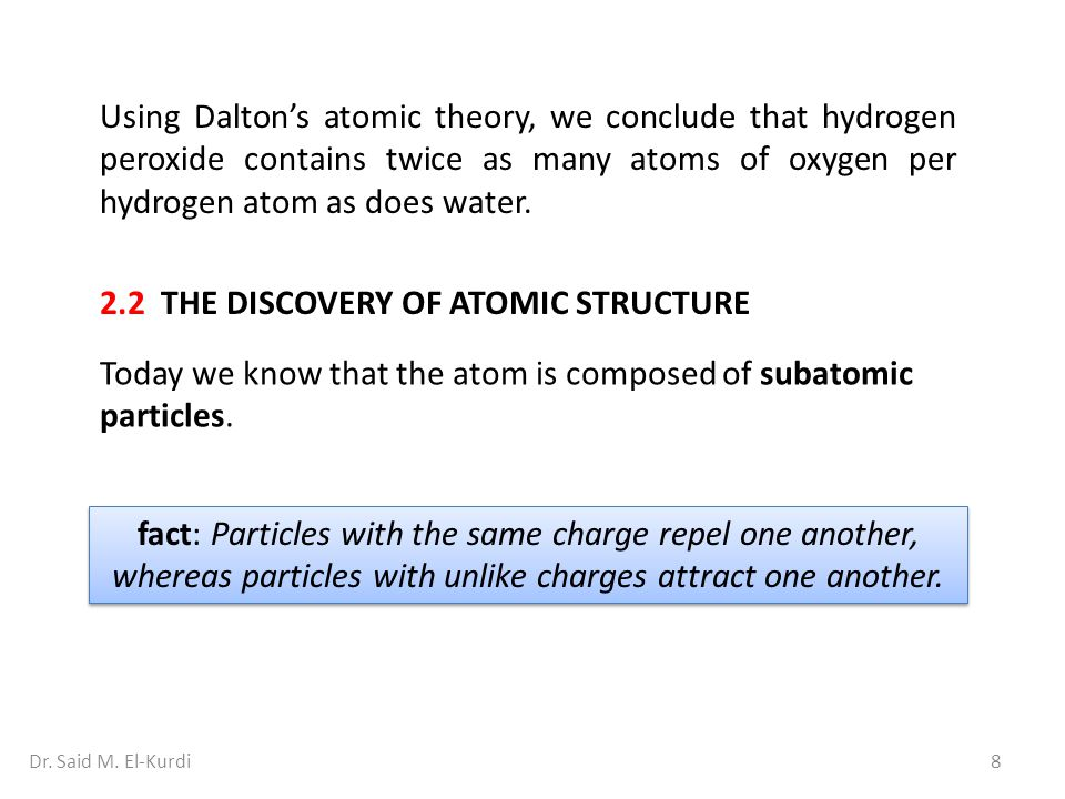 2.2 THE DISCOVERY OF ATOMIC STRUCTURE