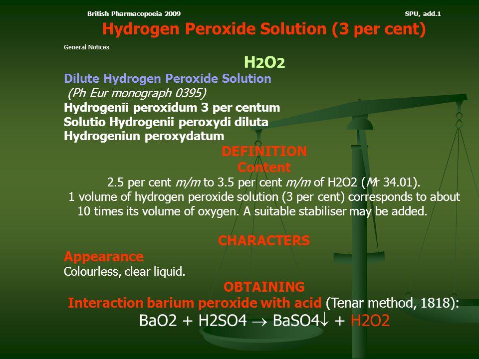 Hydrogen Peroxide Solution (3 per cent) H2O2