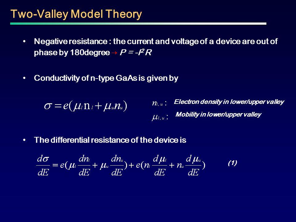 Electron density in lower/upper valley Mobility in lower/upper valley
