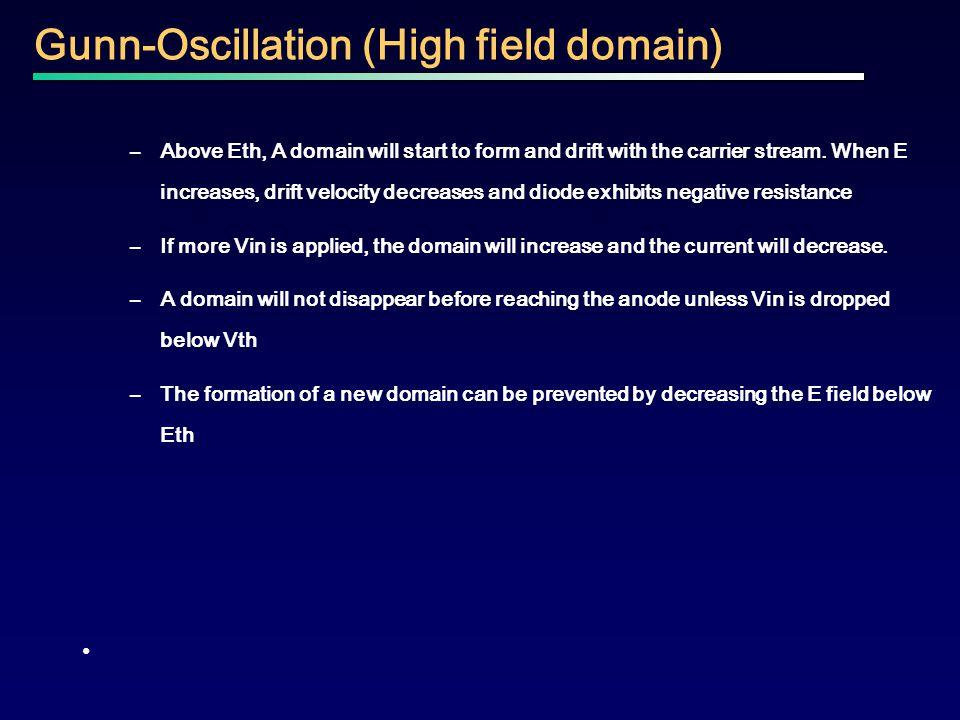 Gunn-Oscillation (High field domain)