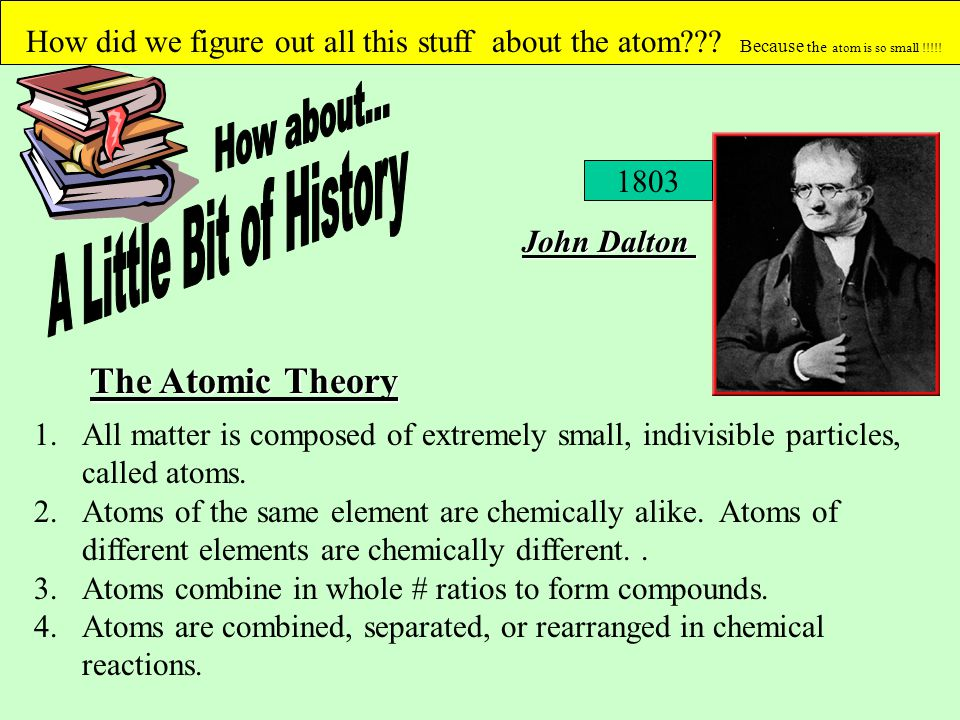 How about... A Little Bit of History The Atomic Theory