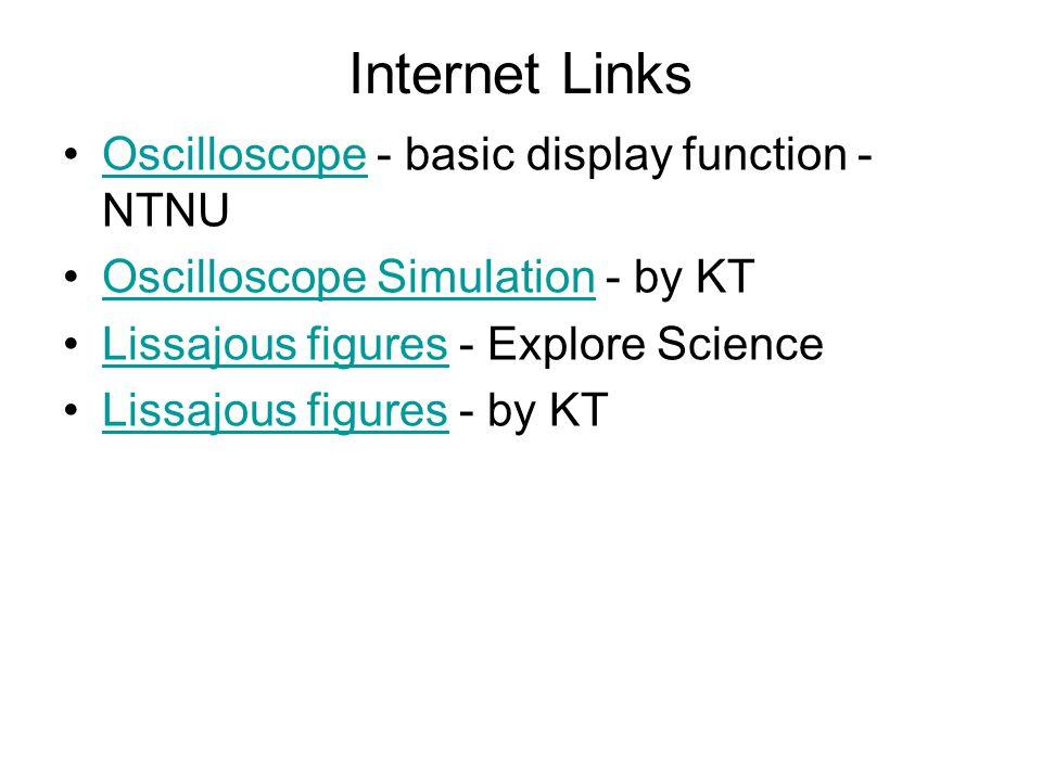 Internet Links Oscilloscope - basic display function - NTNU