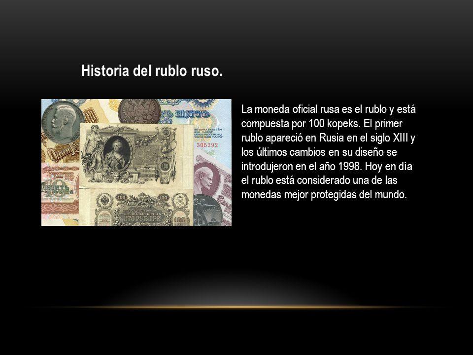 Historia del rublo ruso.