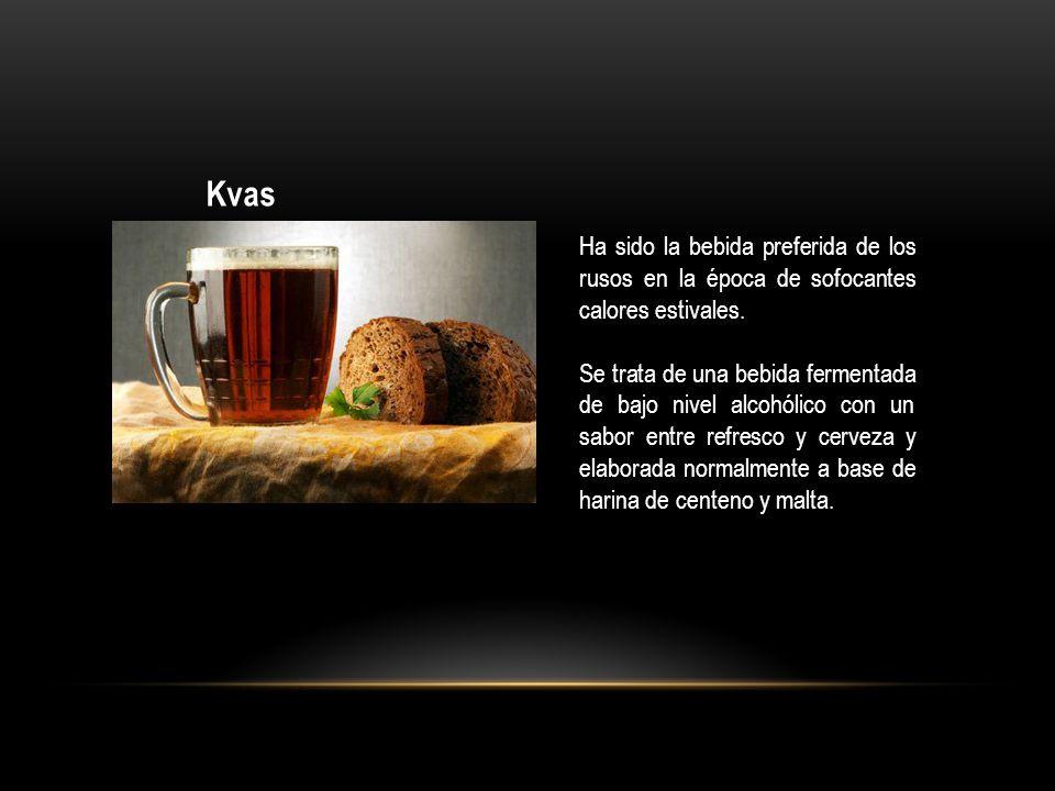Kvas Ha sido la bebida preferida de los rusos en la época de sofocantes calores estivales.