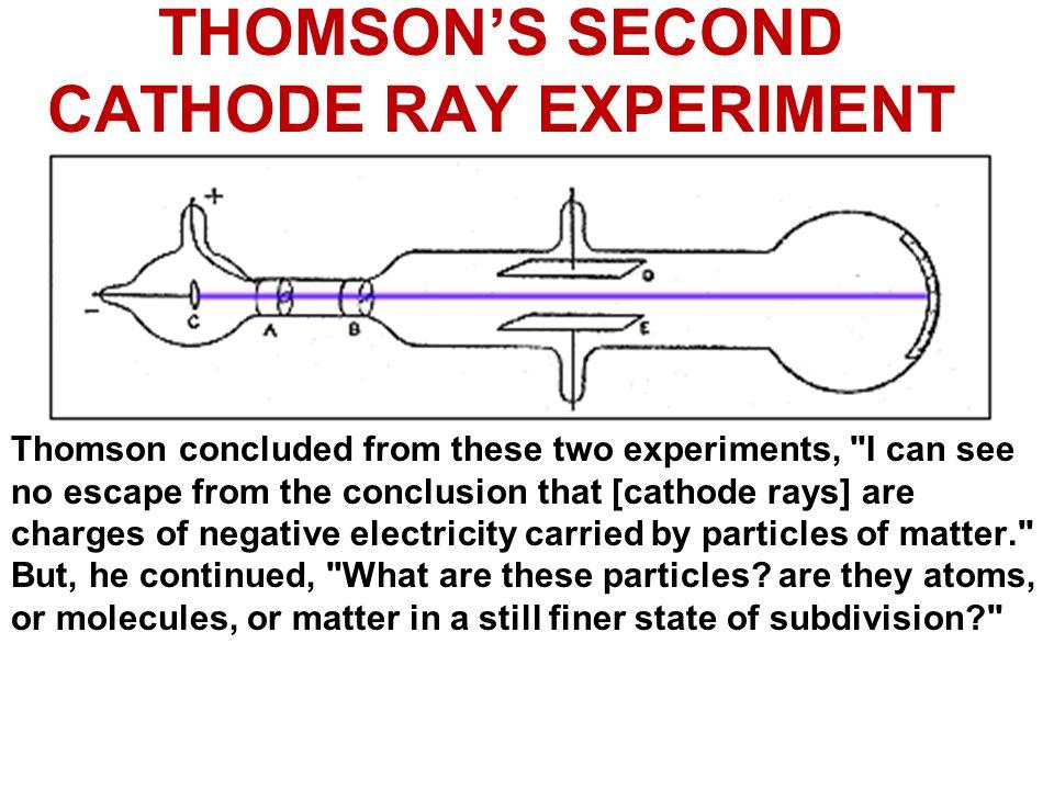 THOMSON'S SECOND CATHODE RAY EXPERIMENT