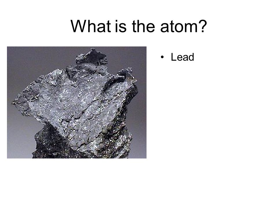 What is the atom Lead