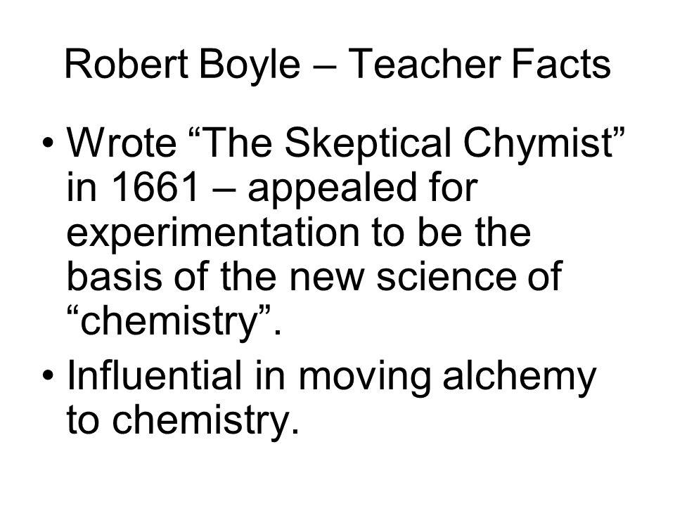 Robert Boyle – Teacher Facts