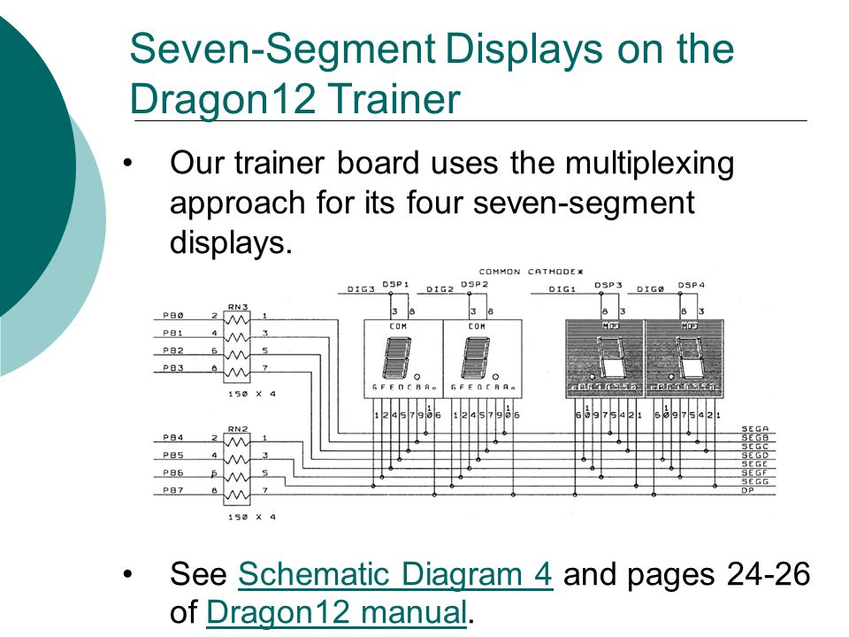 Seven-Segment Displays on the Dragon12 Trainer