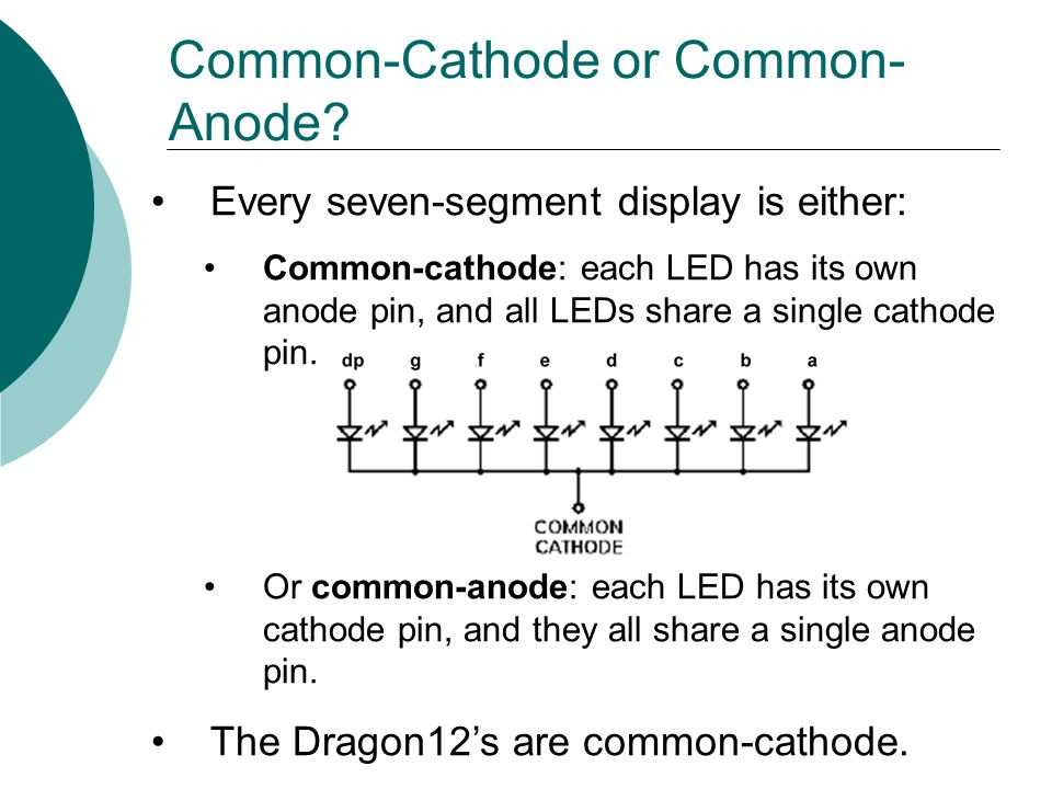 Common-Cathode or Common-Anode
