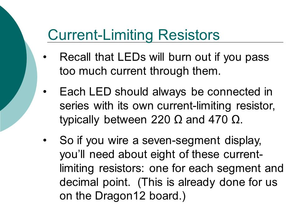 Current-Limiting Resistors