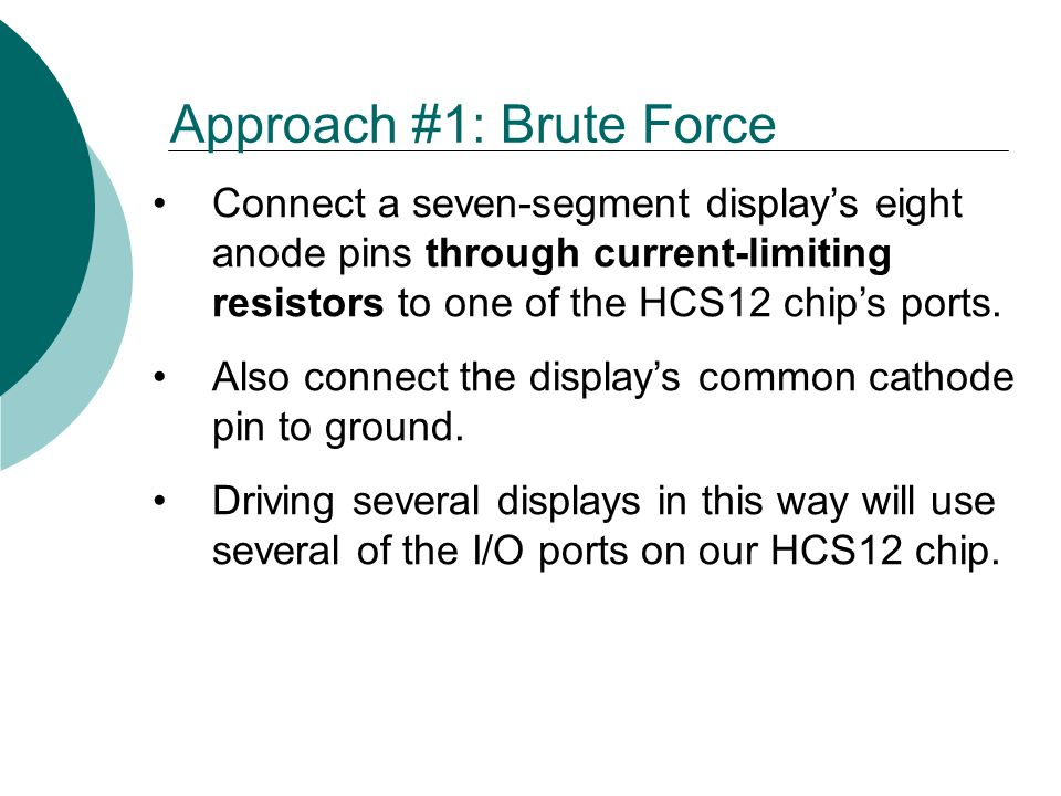 Approach #1: Brute Force