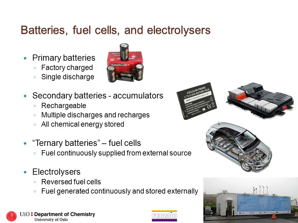 Batteries, fuel cells, and electrolysers