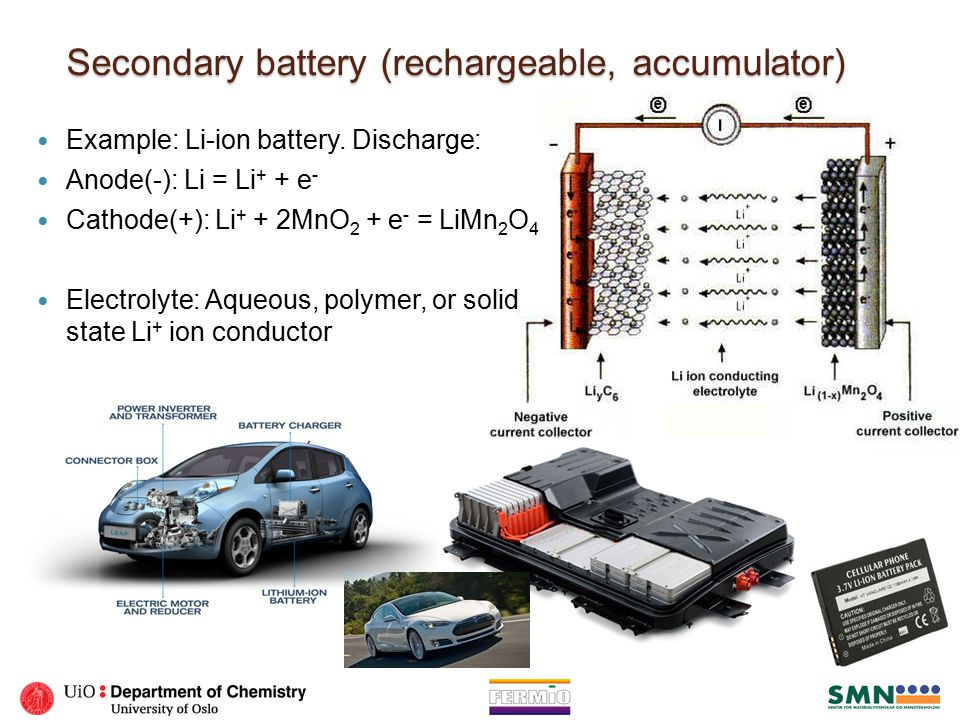Secondary battery (rechargeable, accumulator)