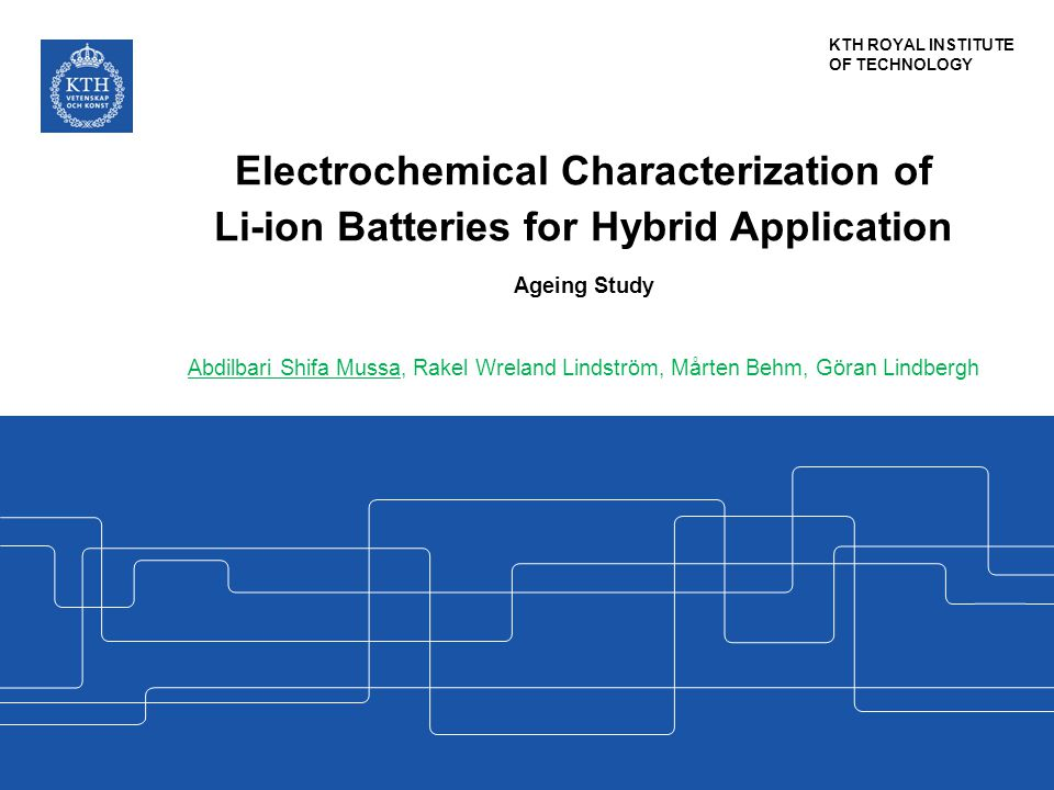Electrochemical Characterization of Li-ion Batteries for Hybrid Application