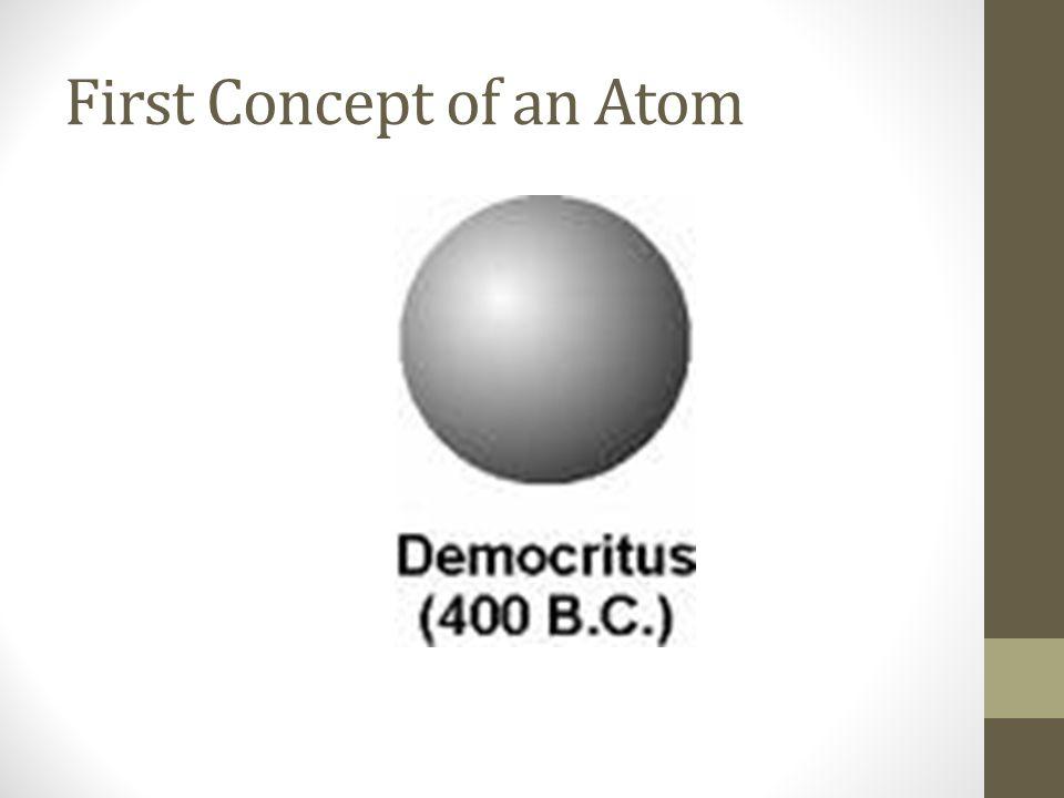 First Concept of an Atom