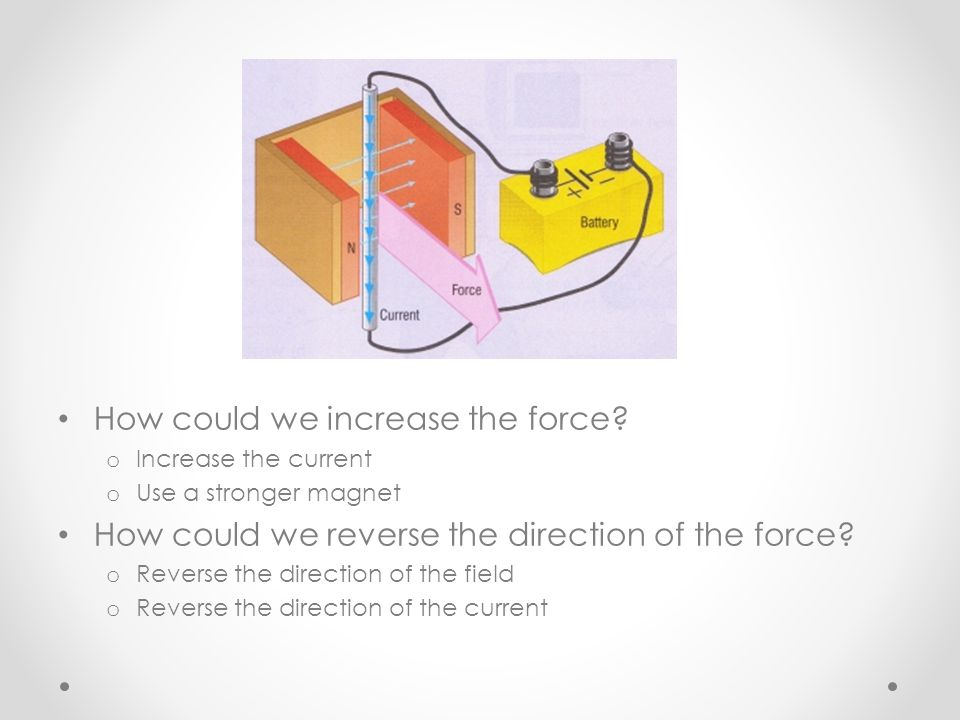 How could we increase the force