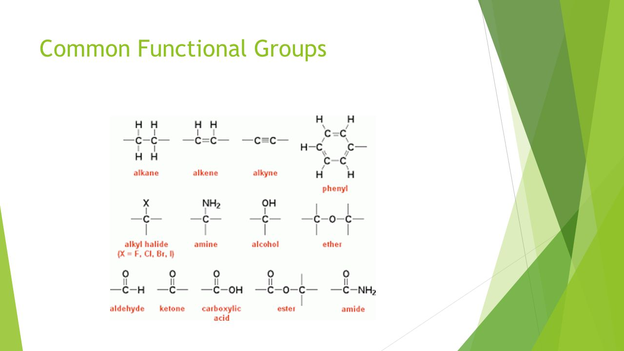 Common Functional Groups