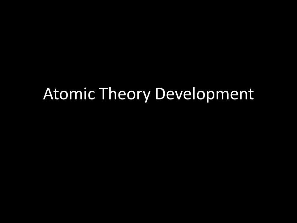 Atomic Theory Development