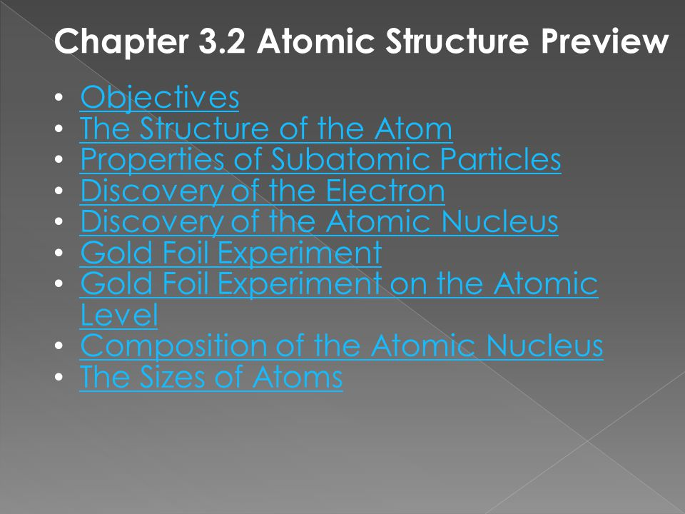 Chapter 3.2 Atomic Structure Preview