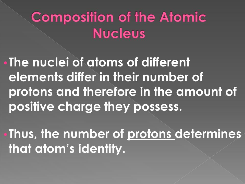 Composition of the Atomic Nucleus