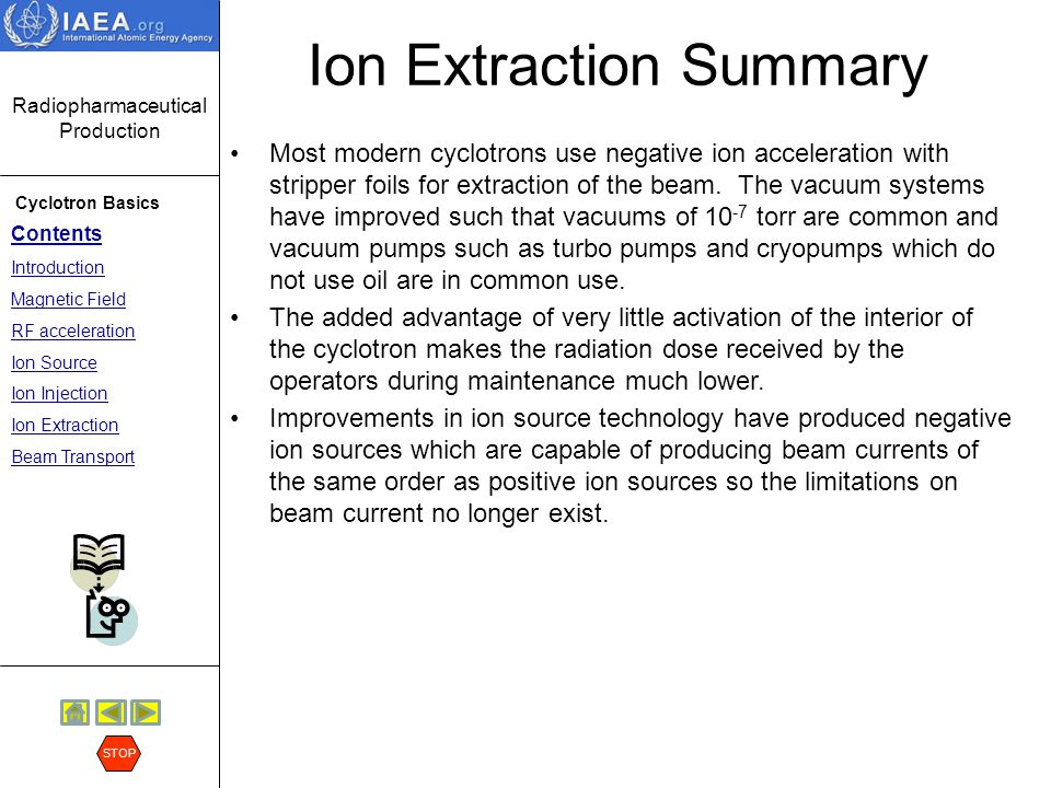 Ion Extraction Summary