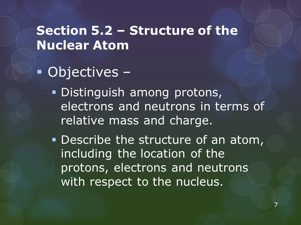 Section 5.2 – Structure of the Nuclear Atom