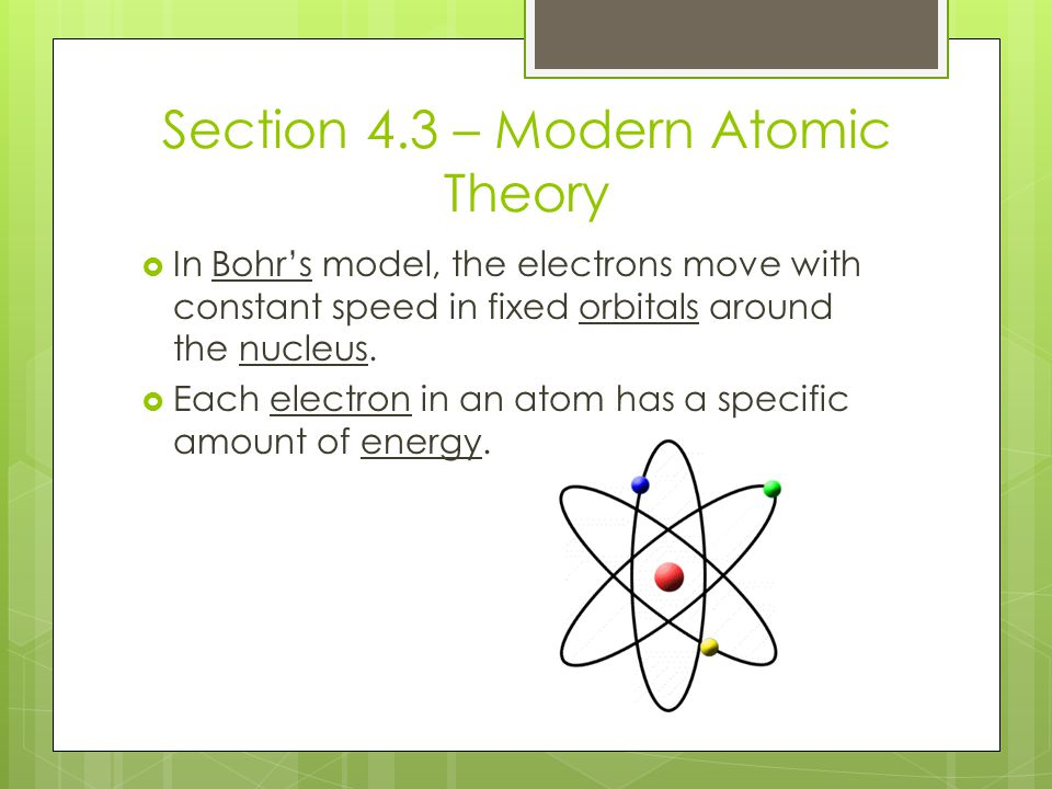 Section 4.3 – Modern Atomic Theory