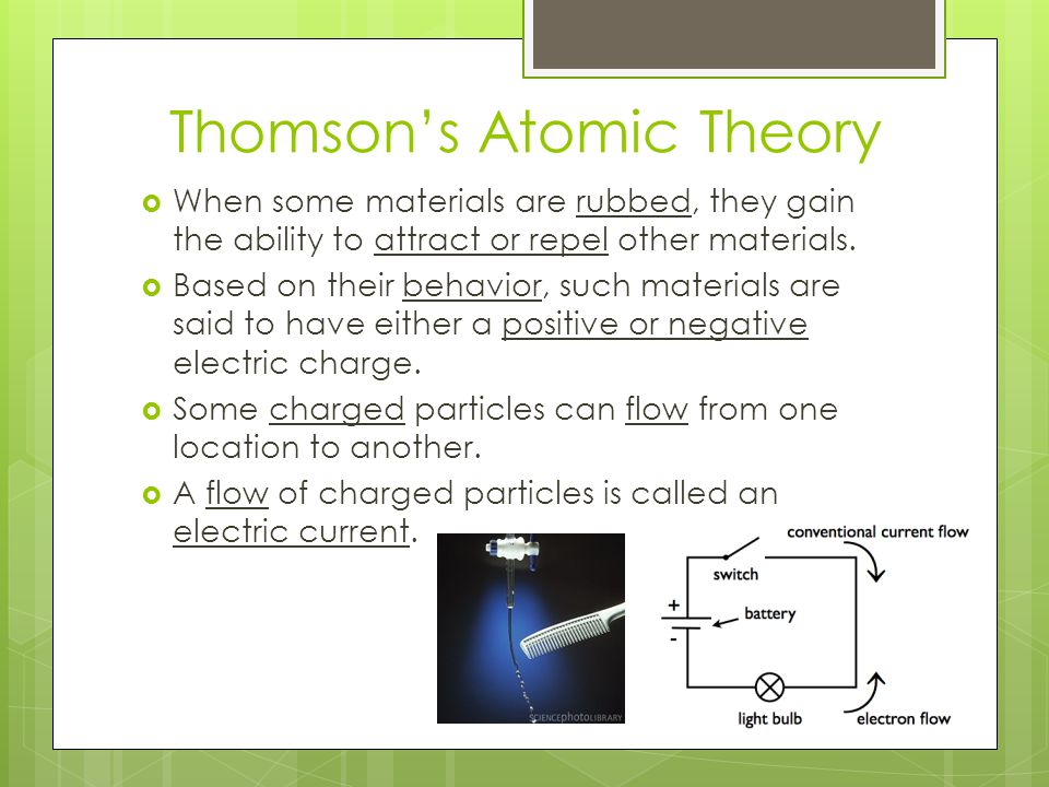 Thomson's Atomic Theory