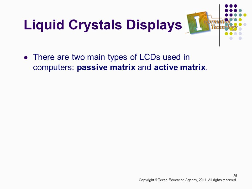 Liquid Crystals Displays