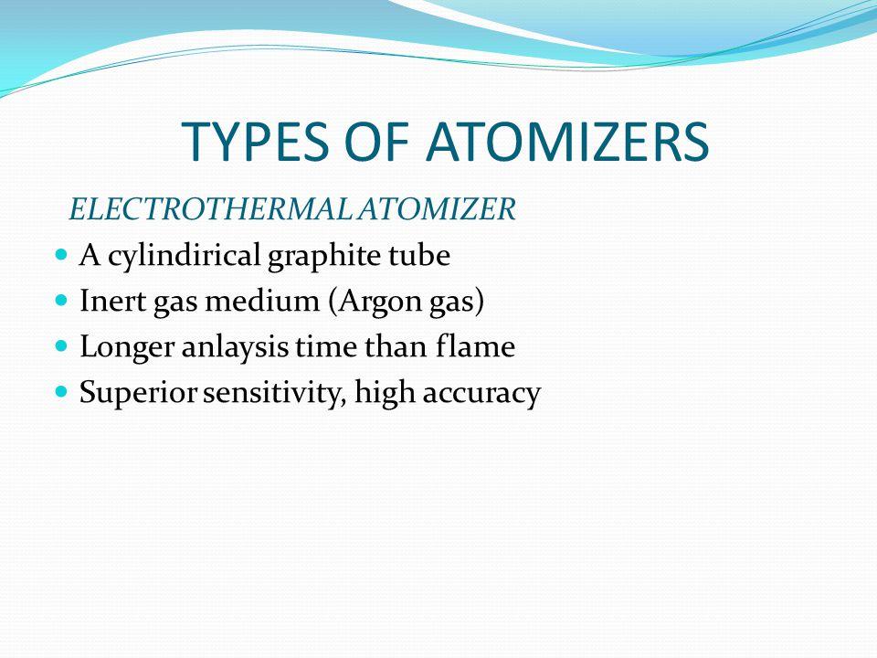 TYPES OF ATOMIZERS ELECTROTHERMAL ATOMIZER