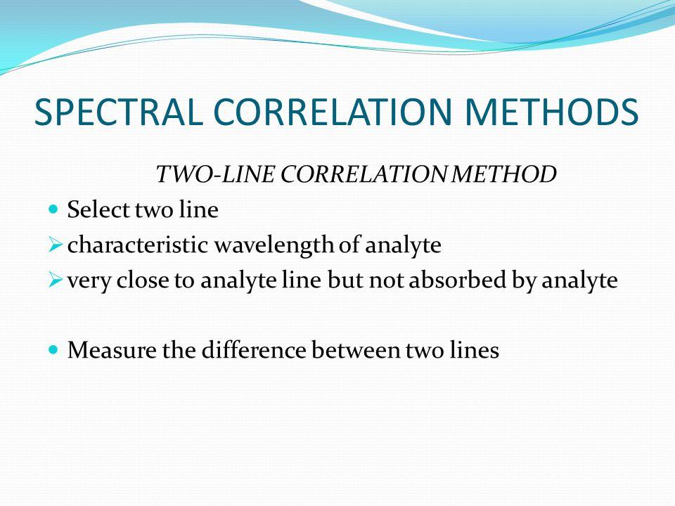 SPECTRAL CORRELATION METHODS