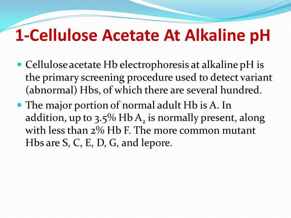 1-Cellulose Acetate At Alkaline pH