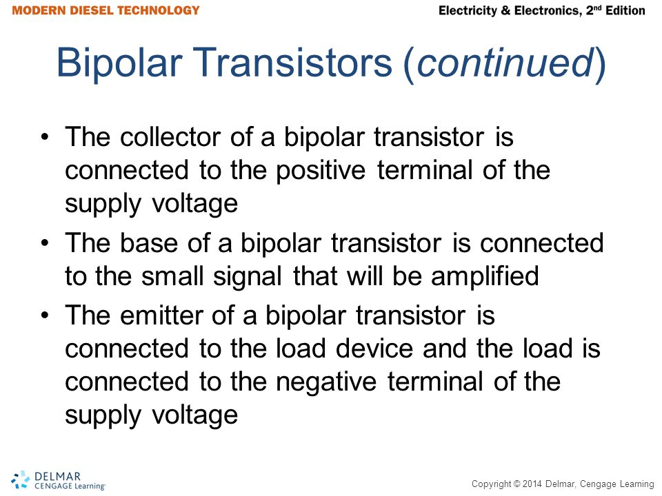 Bipolar Transistors (continued)