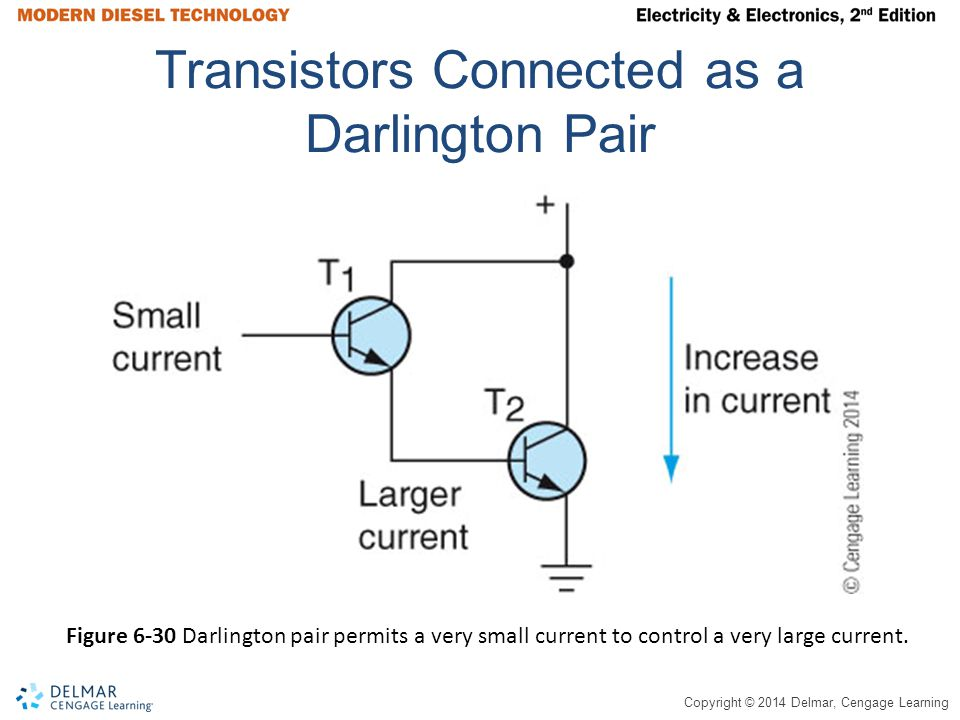 Transistors Connected as a Darlington Pair
