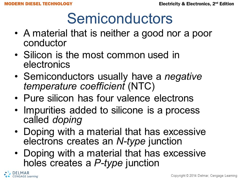 Semiconductors A material that is neither a good nor a poor conductor