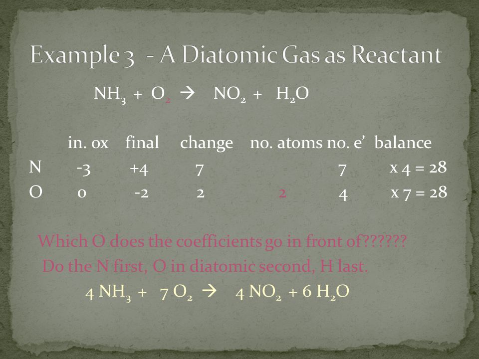 Example 3 - A Diatomic Gas as Reactant
