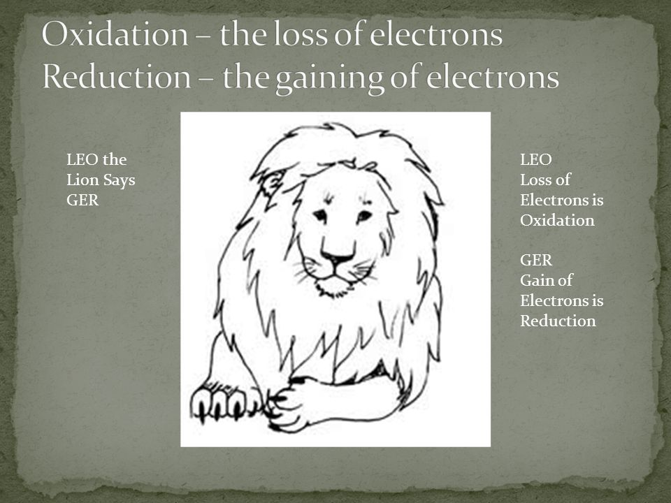 Oxidation – the loss of electrons Reduction – the gaining of electrons