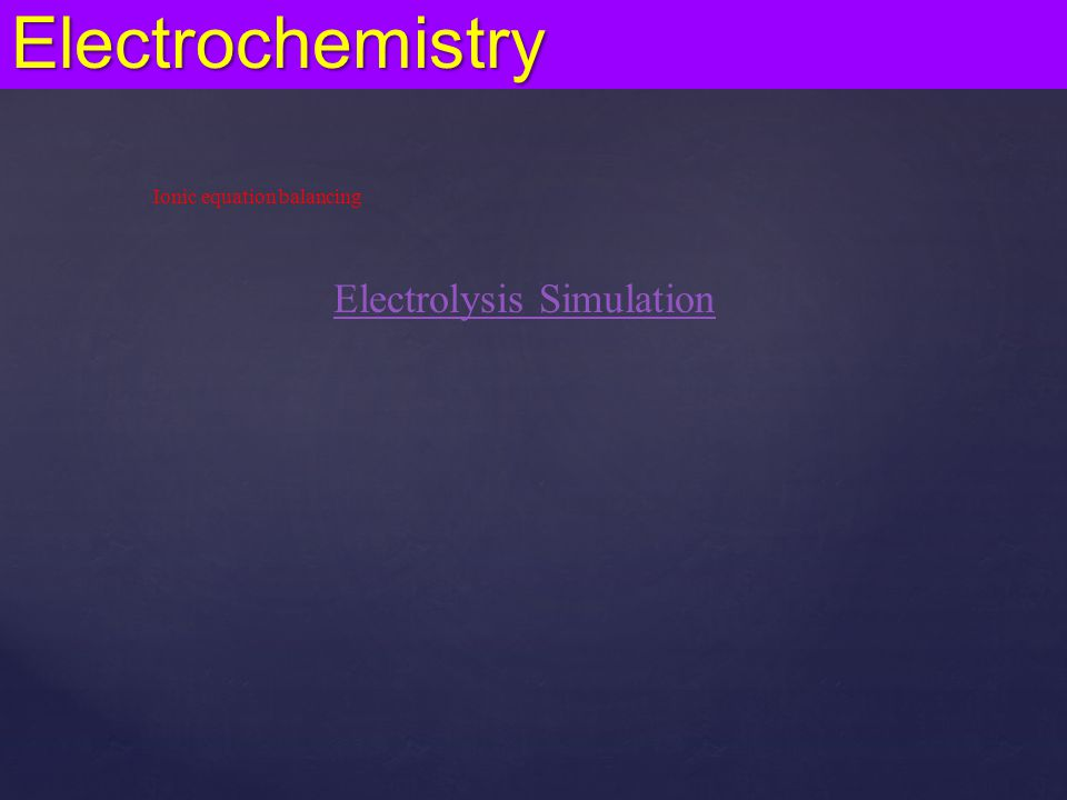 Electrolysis Simulation