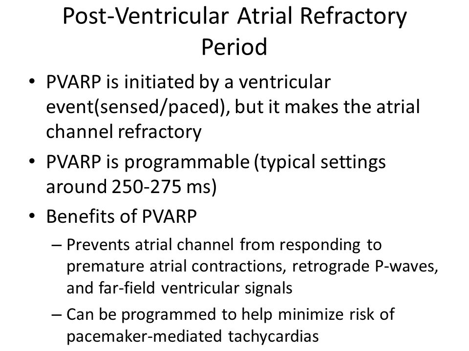 Post-Ventricular Atrial Refractory Period