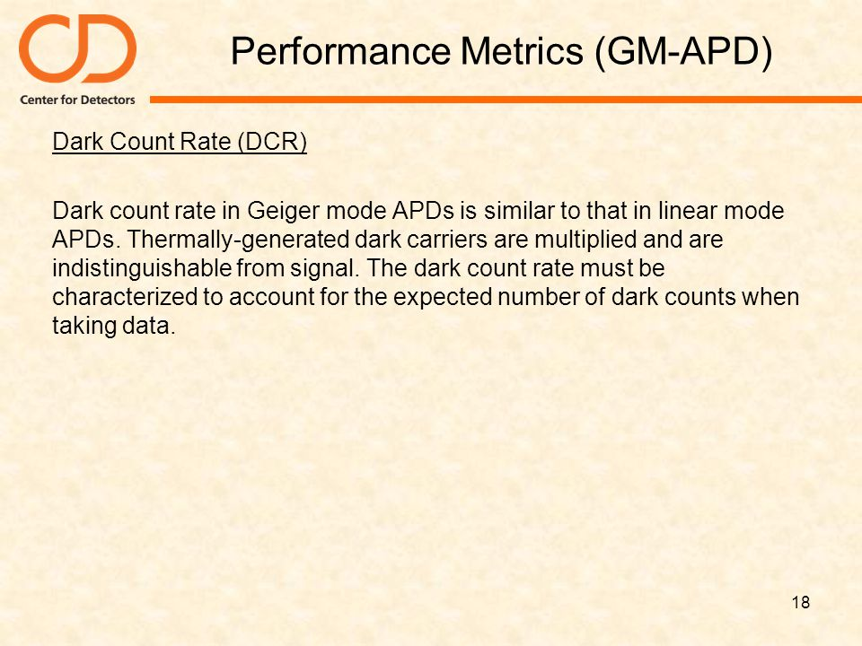 Performance Metrics (GM-APD)