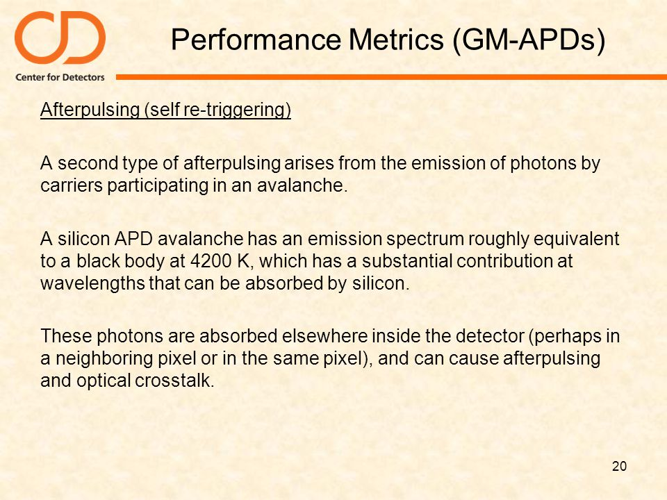 Performance Metrics (GM-APDs)
