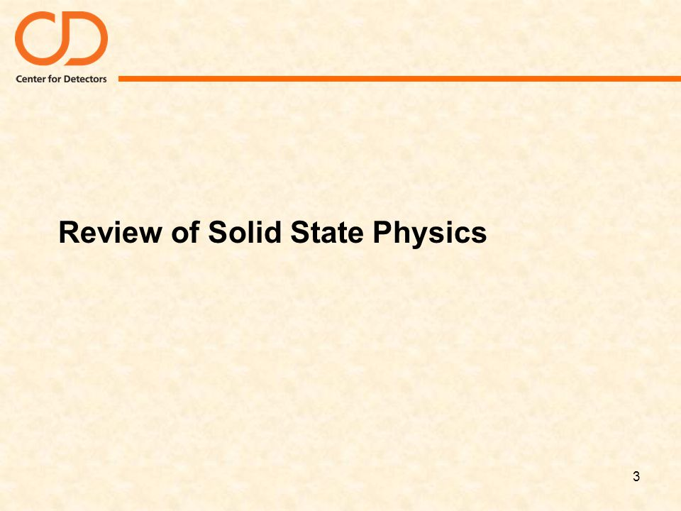 Review of Solid State Physics
