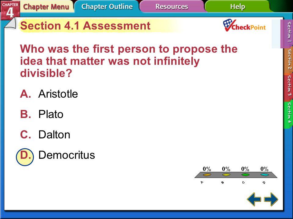A B C D Section 4.1 Assessment